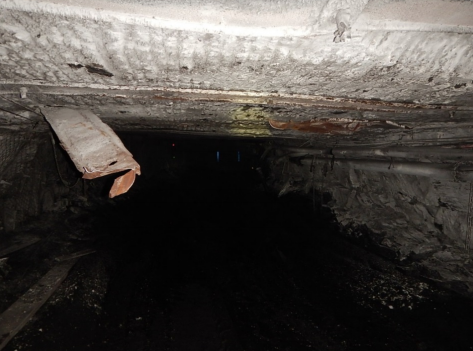 Lake Coal was fined after the roof strap contacted an operator on the head