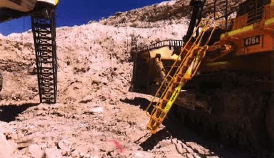 excavator and dozer interaction