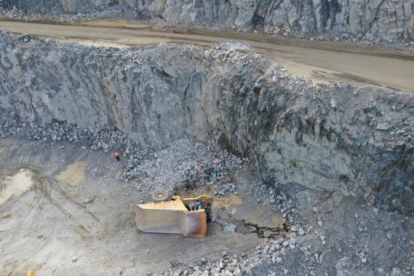 A truck driver died after his 110 tonne haul truck plummeted off a cliff