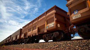 BHP ORE TRAIN railcar at Port Hedland