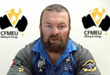 Stephen Smyth from the CFMEU Mining and Energy Queensland Division