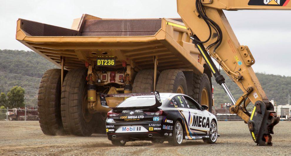 racecar stunt at Queensland Quarry