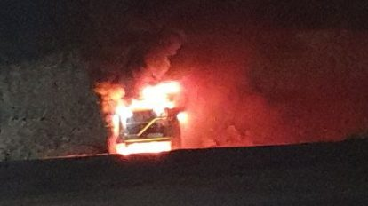 haul truck destroyed by fire at NSW mine