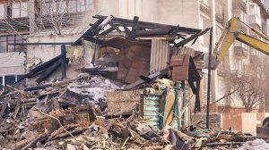 Asbestos dangers may be present in burned out housing