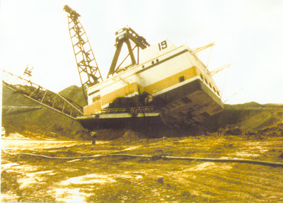 Dragline mining safety incident