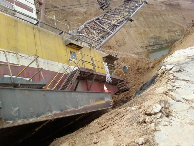 Dragline Mining Incident - ground failure on bench