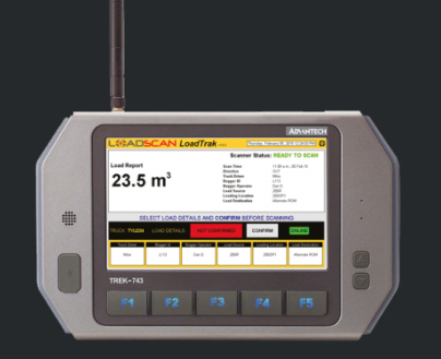 Loadscan in-cab console can provide dynamic feedback on load profiles