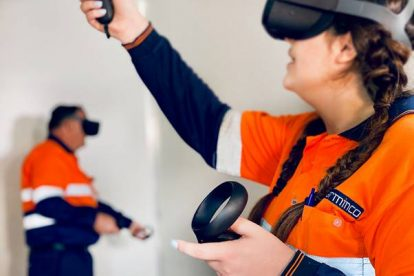 Barminco Virtual reality training in mine safety