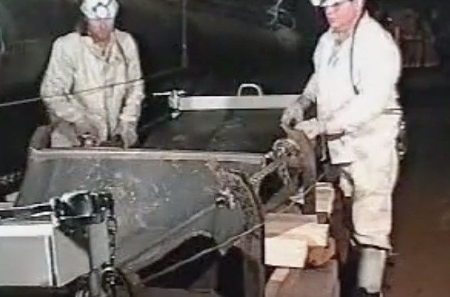 conveyor belt clamps being used during conveyor belt maintenance