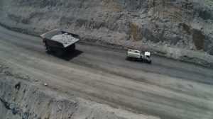 A speeding haul truck has lost control according to the mining safety regulator