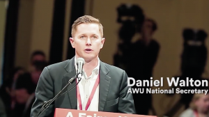 Daniel Walton AWU speaks aboiut henty gold mine