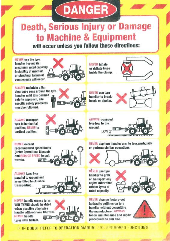 tyre handler safety alert