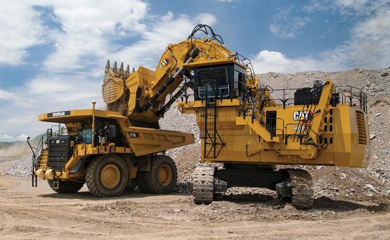 Cat 6030 mining shovel