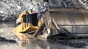 dozer incident at NSW mine. Operating body of water