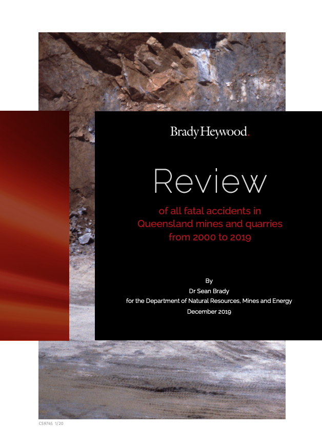 Review of fatal accidents in Queensland mines and quarries 2000 to 2019.