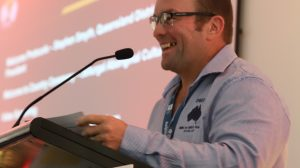 Stephen smyth of cfmeu mining and energy queensland calls for global safety standards for dust