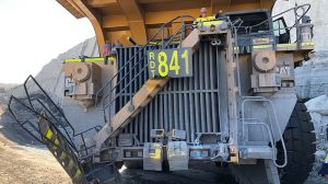Nose to tail collision of haul truck