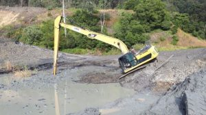 long reach digger incident
