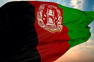 Afghanistan coal mine flag