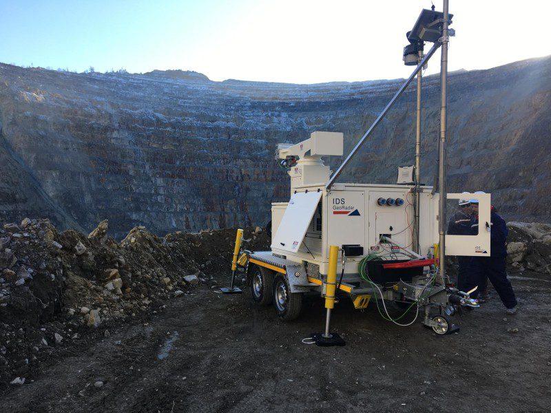 IDS radar slope monitoring