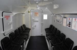 Emergency refuge chamber interior