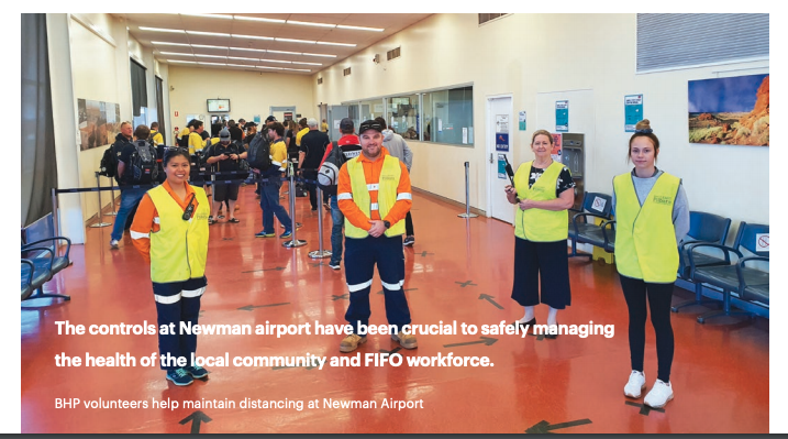 Social distancing takes off at Newman Airport