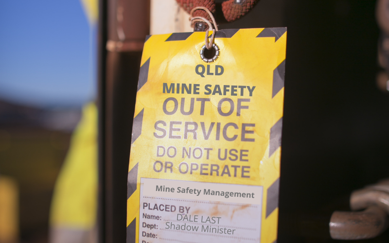 Queensland mine safety out of service