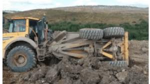 truck rollover incident
