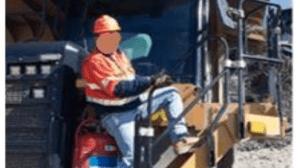 worker falls from dump truck