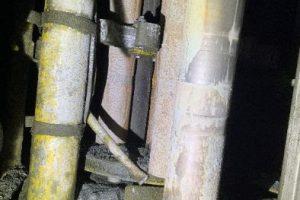 stuck drill steel