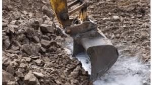 Excavator uncovers misfire