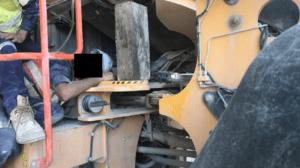 Maintainer stuck under cab