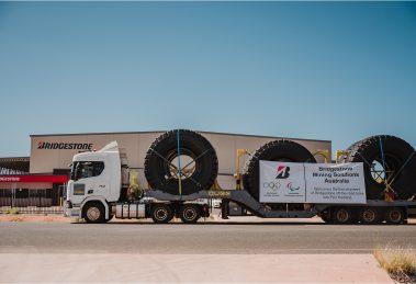 Bridgestone shipping truck tyres straight to Port Hedland