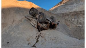 haul truck overturned incident