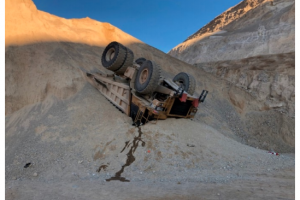 haul truck overturned incident