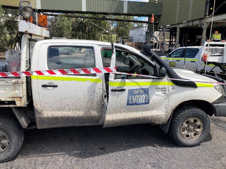 mining vehicle incident at open cut coal mine