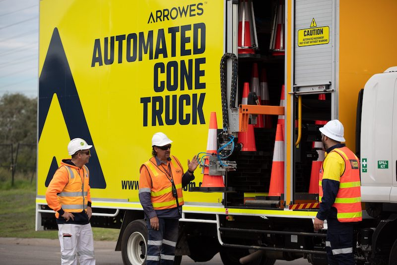 automated cone truck