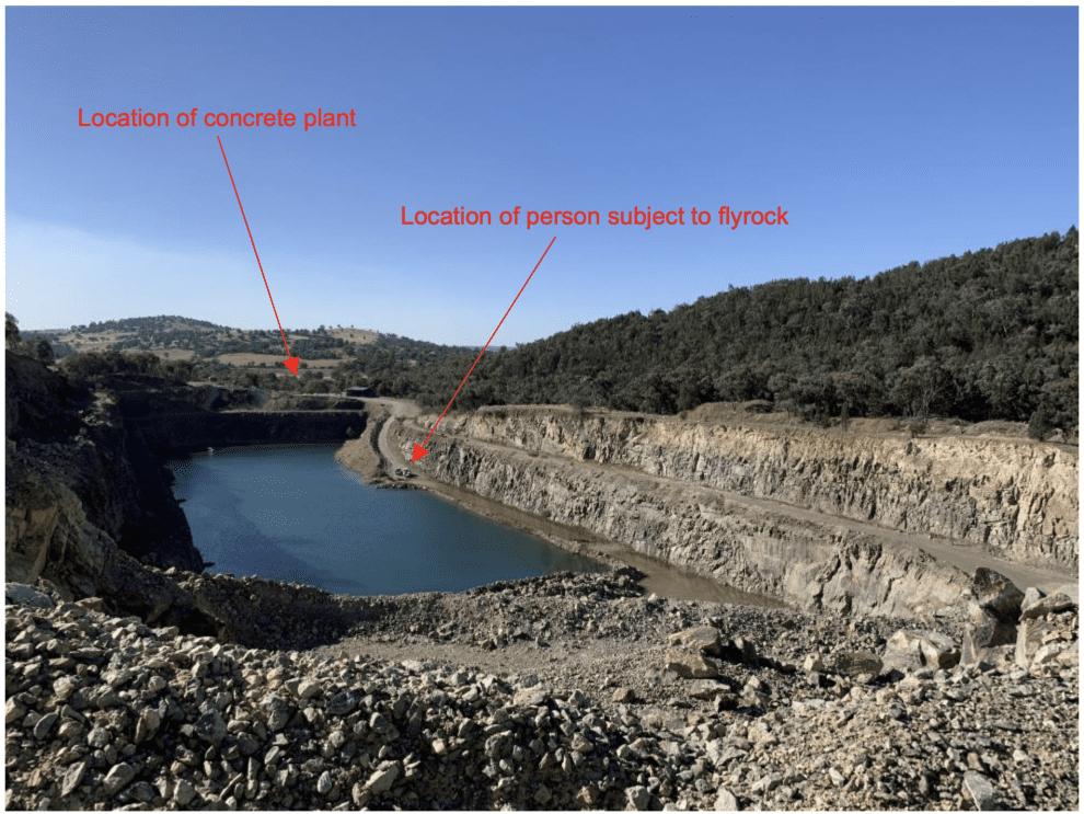 flyrock incident at quarry