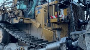 excavator and dozer collision