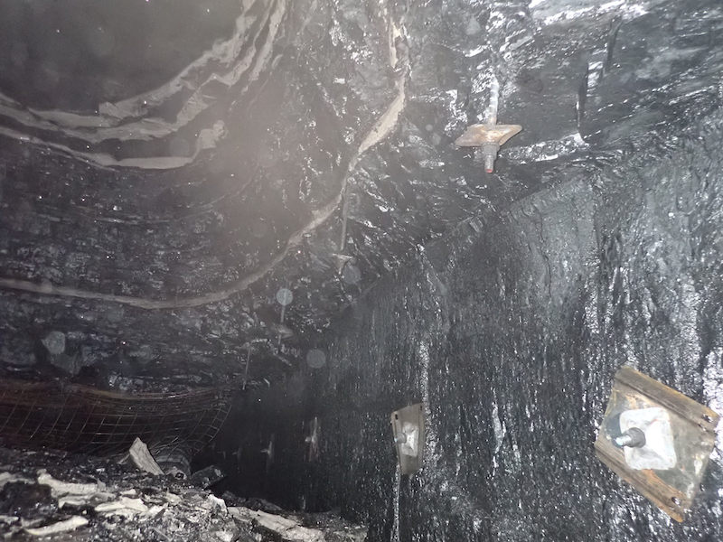 roof fall incident at underground coal mine