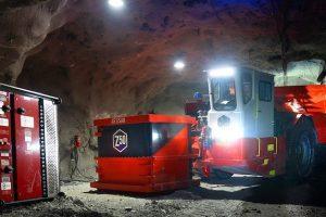 sandvik mine battery electric trucks